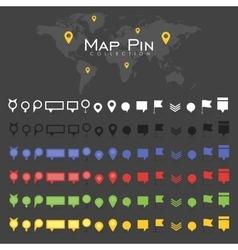 pin map icon mark symbol location colorful vector image