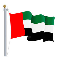 waving united arab emirates flag uae flag vector image