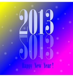2013 - Happy New Year colorful background vector image