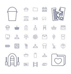 37 empty icons vector