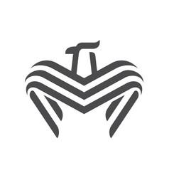 abstract eagle logo design icon vector image