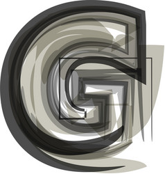 abstract letter g vector image
