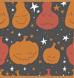 abstract seamless pumpkin pattern for grunge vector image