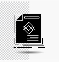 ad advertisement leaflet magazine page glyph icon vector image