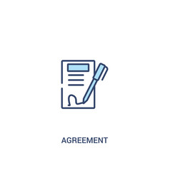 Agreement concept 2 colored icon simple line vector
