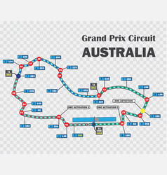 australian grand prix race track detailed vector image