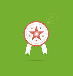 award icon symbol with star inside and sparkle vector image