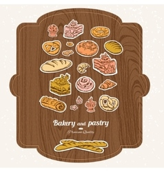 Bakery label set vector image