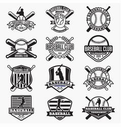 baseball logo badge vector image
