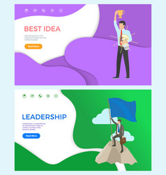 best idea web page leadership and collaboration vector image