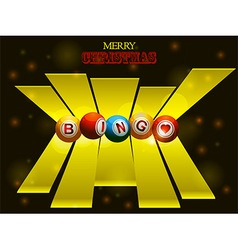 Bingo balls over festive background and 3D stripes vector image