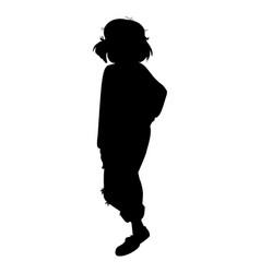 Black fashion silhouette beautiful stylish vector
