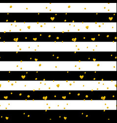 black gold striped seamless pattern vector image