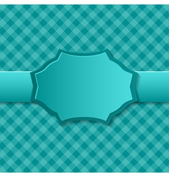 Blue paper background with badge in the center vector