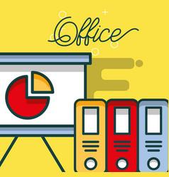 board presentation chart diagram binders office vector image