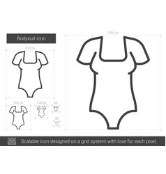 Bodysuit line icon vector