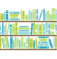 Bookshelf seamless pattern vector