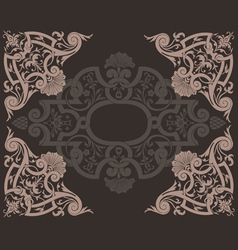 Brown Ornate Background vector image