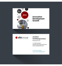 Business card template with points circles vector