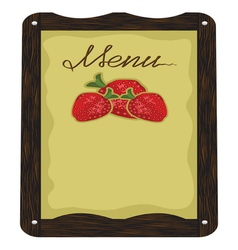 Cafe Strawberry Menu vector