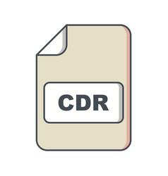 Cdr icon vector