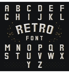 chicago retro alphabet vector image