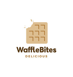 choco waffle chocolate logo icon vector image