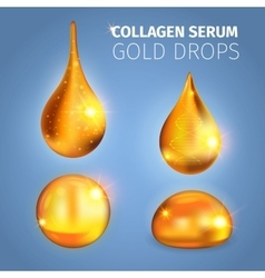 Collagen Serum Golden Drops vector