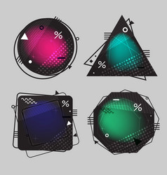 collection of backgrounds the geometric forms with vector image