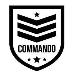 Commando badge logo simple style vector