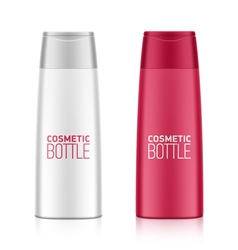 Cosmetic bottle vector image