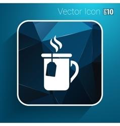 Cup of hot tea icon logo vector