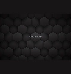 Dark gray 3d tech hexagonal blocks pattern vector