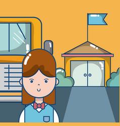 elementary school cartoons vector image