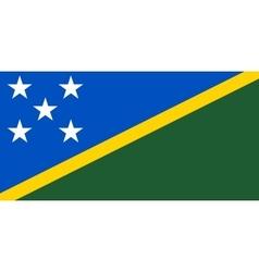 Flag of Solomon Islands correct size color vector