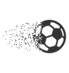 football ball destructed pixel icon vector image