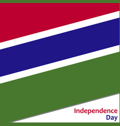 Gambia independence day vector