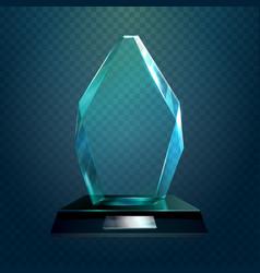 glassware trophy or cup sport award vector image
