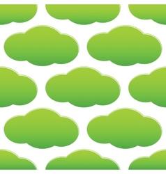 Green cloud pattern vector