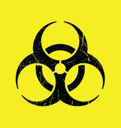 Grunge styled biohazard symbol vector