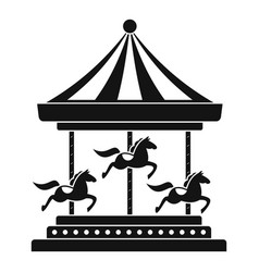 horse carousel icon simple style vector image