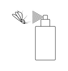 Icon of mosquito spray vector