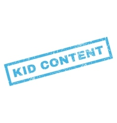Kid content rubber stamp vector