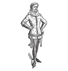 Lancelot du lac vintage vector