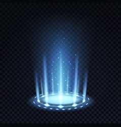 magic portal realistic light effect with blue vector image