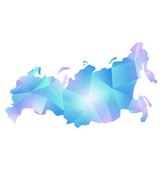 map russia polygon vector image
