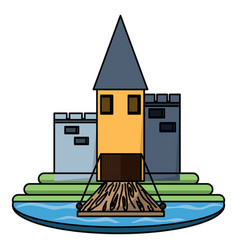 Medieval castle icon image vector