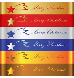 merry christmas color stripes with comet eps10 vector image