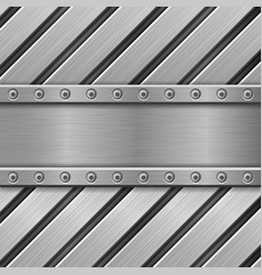 metal background stainless steel texture with vector image