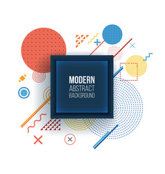 modern background in trendy linear style vector image